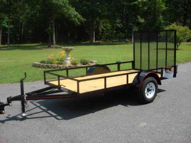 Deluxe 5ft x 10ft utility trailer wood floor 4ft ramp for 13 floor trailer