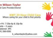 Kwt 24 hour child care (in-home daycare) - has infant/toddler openings 614)268-6581dear: p