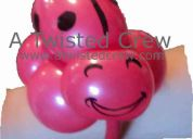 Balloon animals by a twisted crew