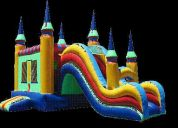 Party rentals, jumpers-bouncer combos with slides, laser tag, party machines...