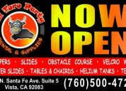 El toro party rentals *jumper, 4 tables, 24 chairs, pinata*