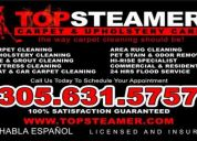 Commercial carpet cleaning miami - 305-631-5757 upholstery cleaning also available