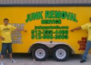 Get your junk removal, yard debris removal, & furniture removal today in austin