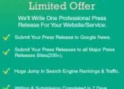 Press releases distribution - professional press releases writing