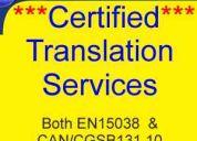 ****certified translation services ****