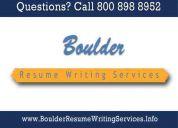 Boulder resume writing services