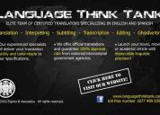 ✔ native spanish/english translation, transcription, editing - los angeles, california