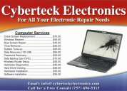 Cyberteck for all of your electronics needs! pc-cell-tv repairs and upgrades